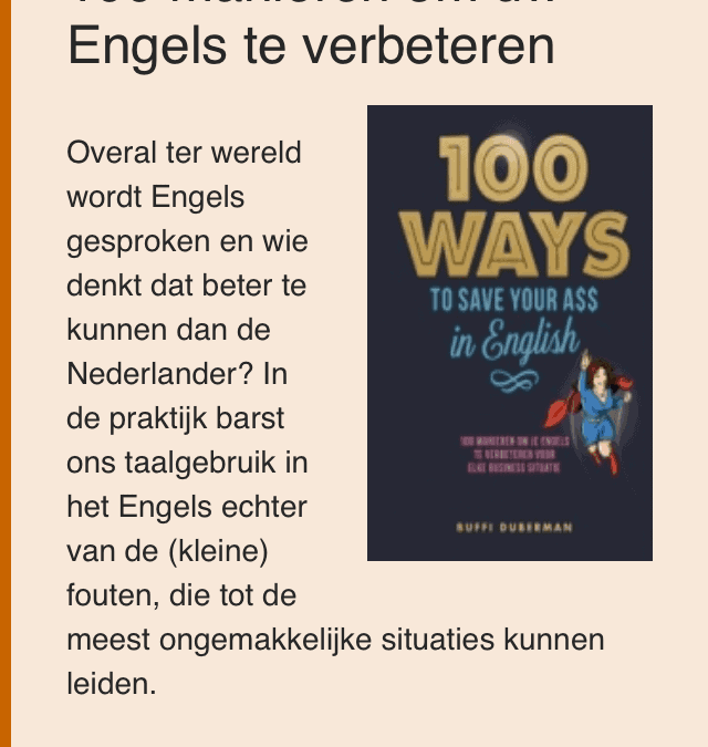 Recommended Summer Reading – Onze Taal says so! :)