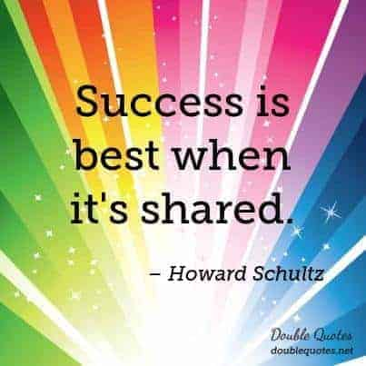 Are you scared of sharing your success? Don't withhold the gold!