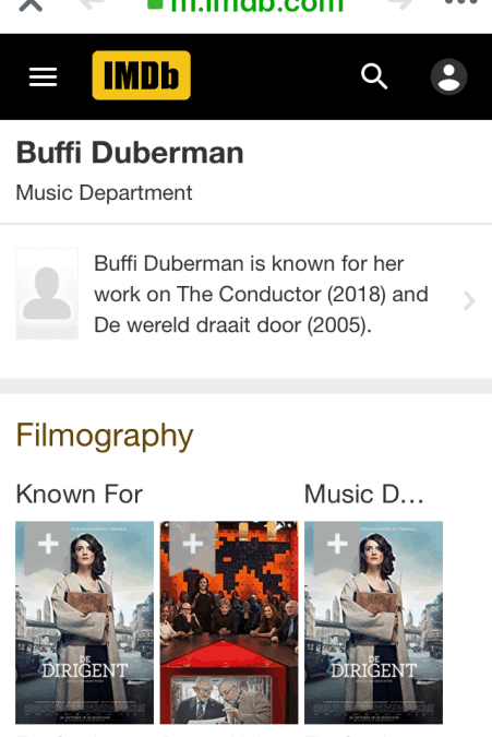 Added to IDMA for my English coaching for De Dirigent/The Conductor!